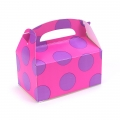 Favor Boxes ~ Pink with Purple Big Dots Empty